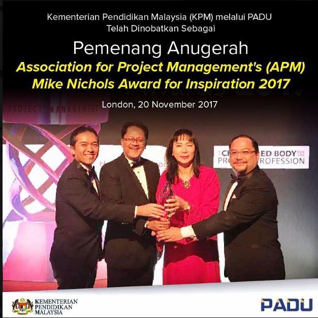 PADU Terima Anugerah Antarabangsa