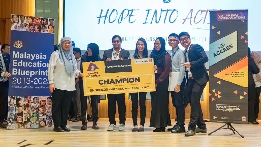 Malaysia's premier Education Case Study Competition: 'Hope into Action'
