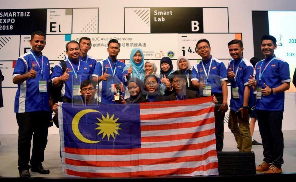 SMK Tanjung Datuk Rangkul Pinggat Emas dan Anugerah Khas Pertandingan Ciptaan dan Reka Bentuk Antarabangsa