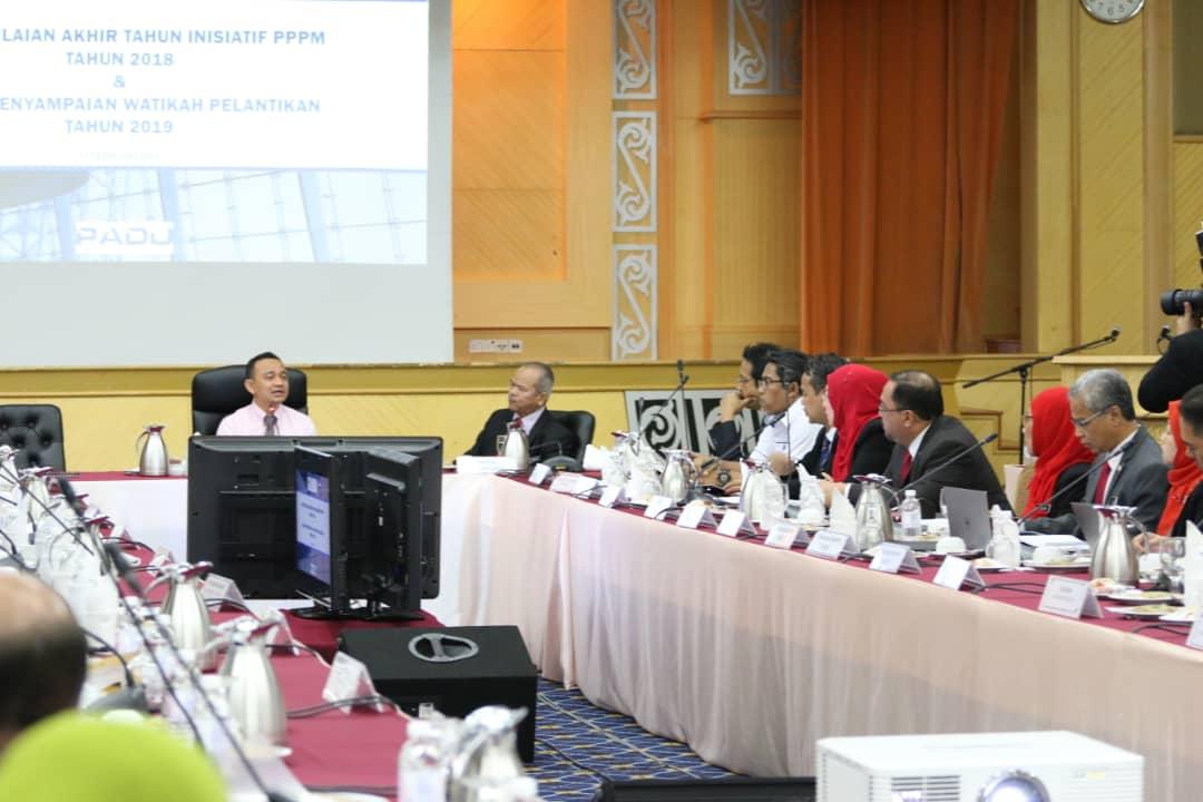 SESI PENILAIAN AKHIR TAHUN INISIATIF PELAN PEMBANGUNAN PENDIDIKAN MALAYSIA (PPPM) TAHUN 2018 DAN MAJLIS PENYAMPAIAN MANDAT DAN WATIKAH PELANTIKAN